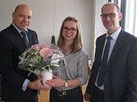 Auszubildende erhält den Bayerischen Staatspreis